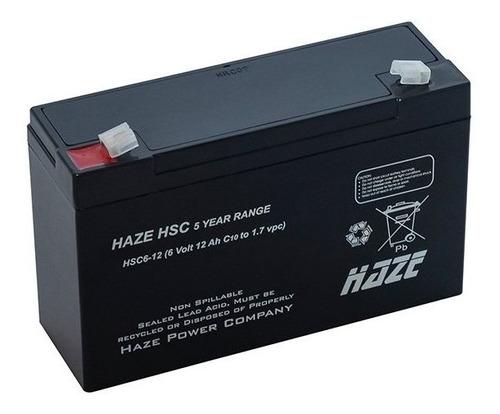 Bat 6v 12ah Haze Power - Hma 6-12 Hzla - Moto Elétrica