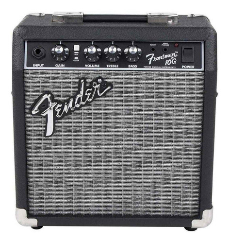 Amplificador Fender Frontman Series 10g Transistor Para Guitarra De 10w Color Negro/plata 120v