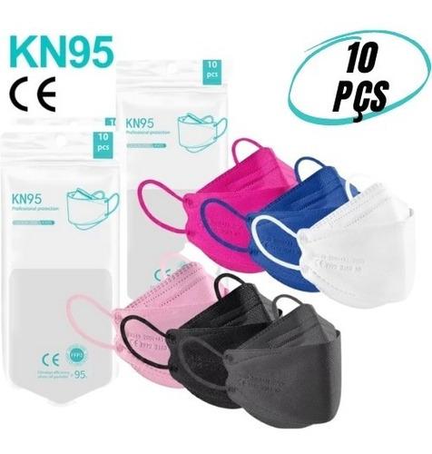 Kit Máscaras Respiratória Kn95 N95 Pff2 Boca Peixe 3d Colors