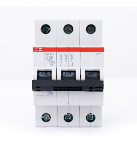 Breaker Abb Riel Sh200 3p 50 A 10ka120vac-1f Vmax:440vac