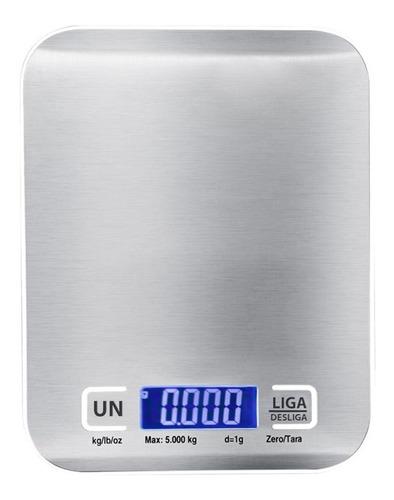 Balança Cozinha Digital Aço Inox 5kg Capacidade