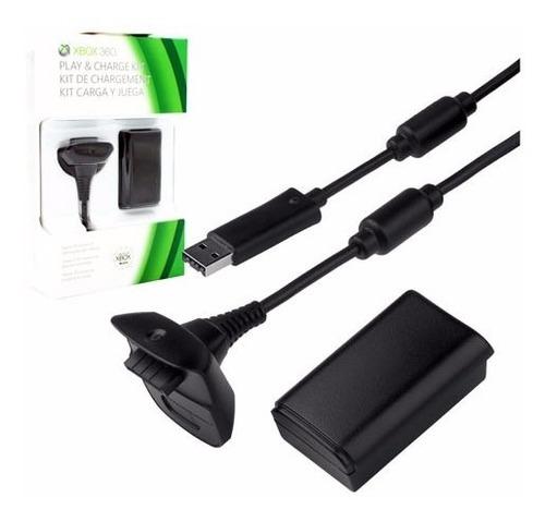 Carregador Controle Xbox 360 Com Bateria Recarregável