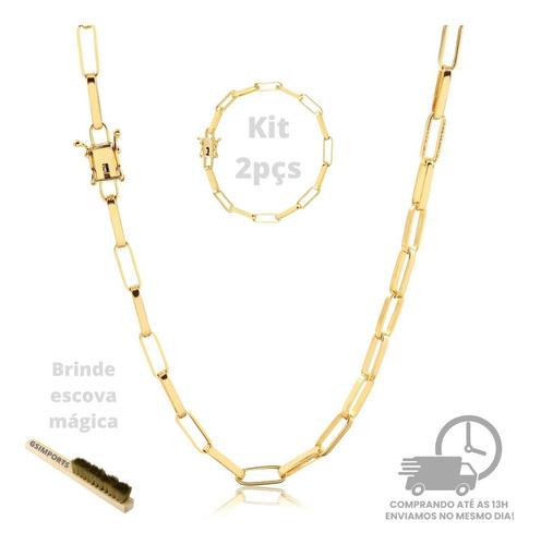 Moeda Antiga Corrente+pulseira Banhado A Ouro Envio Imediato