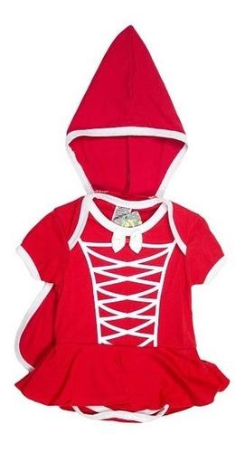 Body Fantasia Chapéuzinho Vermelho Para Festa De Mêsversário