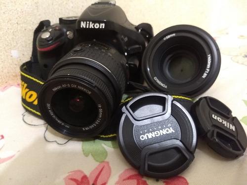 Nikon D 5200 Excelente Estado De Funciomento Lentes
