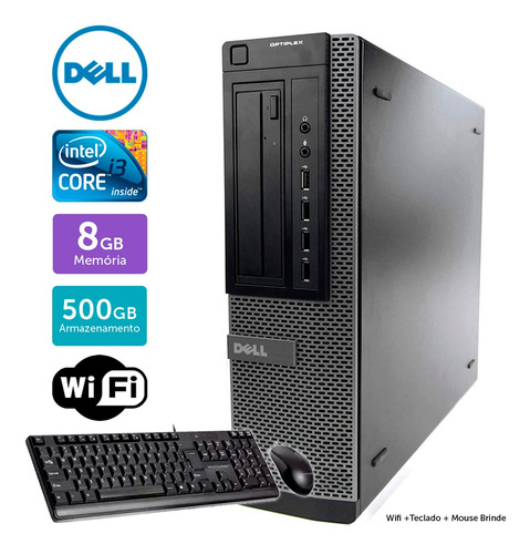Computador Usado Dell Optiplex 7010 I3 8gb 500gb Brinde