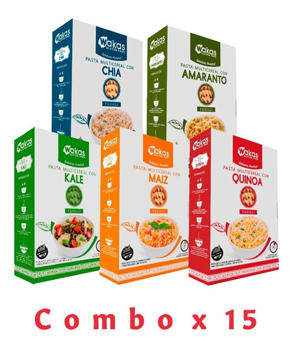 Fideos Wakas Multicereal - 15x250gr - Sin Tacc