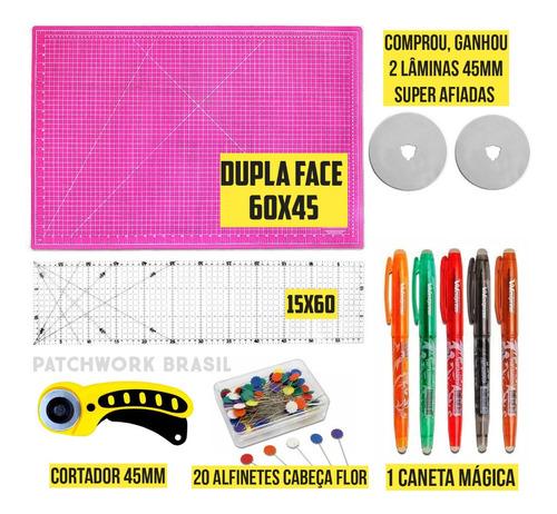 Kit Base De Corte 60x45 + Régua 15x60 + Lâminas + Brindes