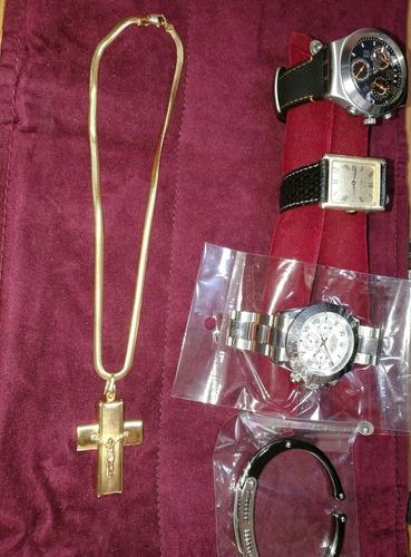 Cadena Baño De Oro 18k Wide Gargantilla Cristo Prenda Collar