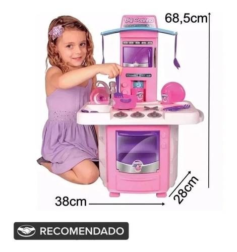 Cozinha Infantil Com Fogão, Pia E Sai Água - 16 Acessórios