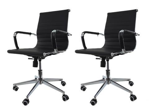 Kit 2 Cadeiras De Escritório Diretor Charles Eames Eiffel