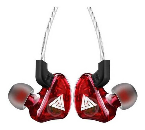 Auriculares In-ear Qkz Ck5 Rojo