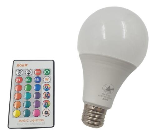 Lampada Led Bulbo 15w 16 Cores + Controle Remoto Decoração !