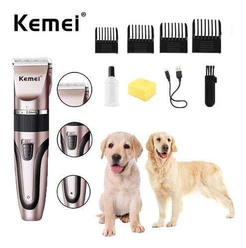 Máquina Kemei Km-1053 Pet Animais Cães Gatos Profissional