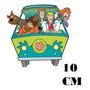 Adesivo Hanna Scooby Doo Mistery Machine Com Frete Grátis