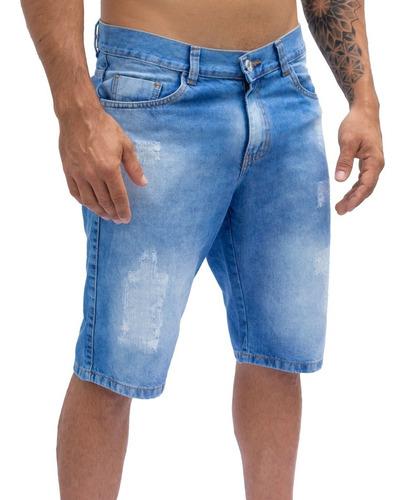 Kit 3 Bermudas Jeans Masculina Atacado C/ Nota Fiscal  Full