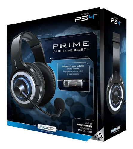 Fone E Microfone Prime Wired Headset Para Ps4 Da Dream Gear