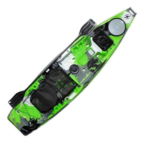 Caiaque De Pesca Flash Kayak + Cadeira Alumínio + Remo