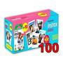 Papel Filme Para Instax Mini 7, 8, 9, 11 100 Fotos 5, 4 X 8, 6