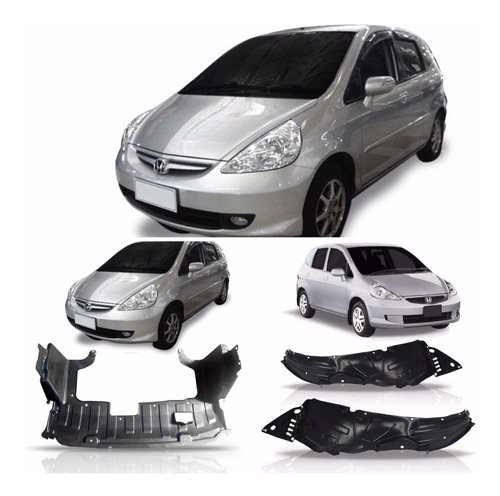 Kit Parabarro E Defletor Honda Fit 2003 2004 2005 06 07 2008