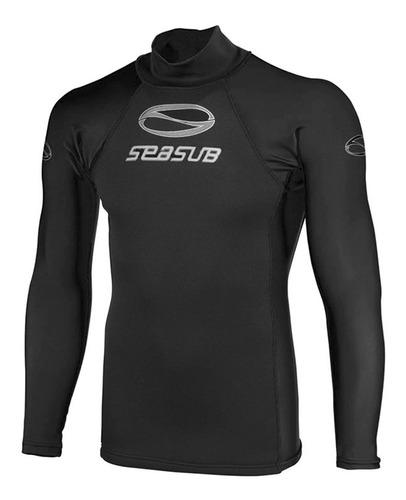 Camiseta Lycra Neoprene Seasub, Proteção Uv Manga Longa