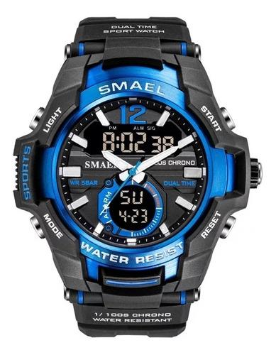 Relógio De Pulso Masculino Esportivo Smael 1805 Azul