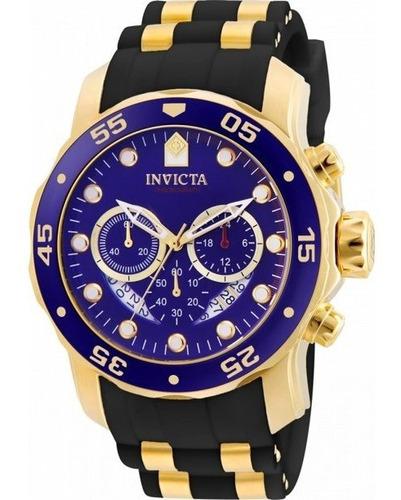 Invicta Pro Diver Scuba Mens 48mm Gold And Black Quartz