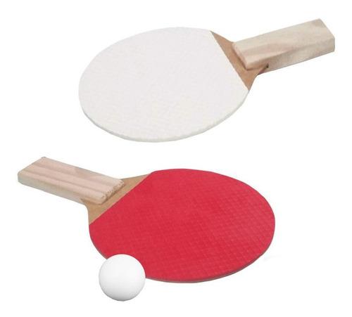2 Raquetes Ping Pong Para Tênis De Mesa + 1 Bolinhas Brancas