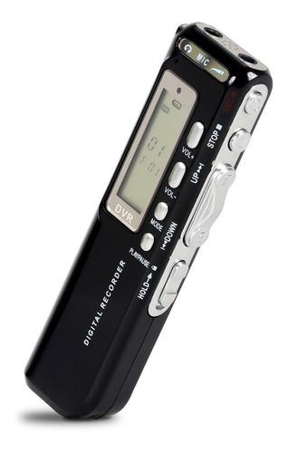 Gravador De Voz Digital 8gb Mp3 Usb Espião Microfone Lapela