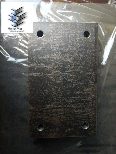 Platinas Pletinas 25x15 Espesor 1/2  Hierro Perforadas 14mm
