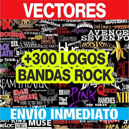 Logos Bandas Rock Pack Vectores El Mas Completo