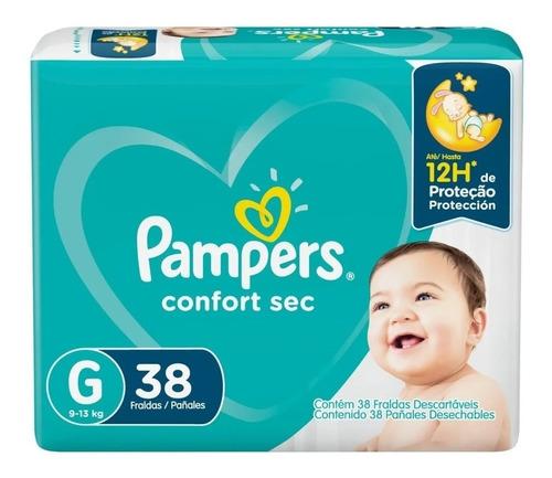 Fralda Infantil Pampers Confort Sec G