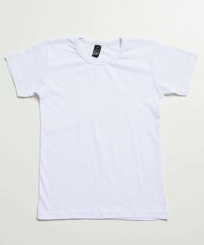 Camiseta Infantil Básica Manga Curta Tam 4 A 10