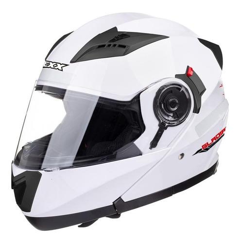 Capacete Para Moto  Escamoteável Texx  Gladiator  Branco Tamanho S