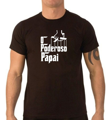 Camiseta Preta Malha Pv - O Poderoso Papai Original