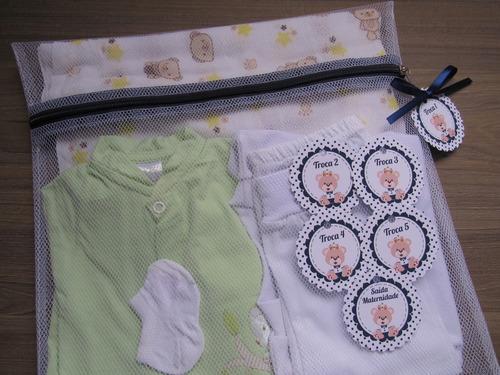 Saquinho Maternidade C/ 6 Unidades + Tag Urso Príncipe