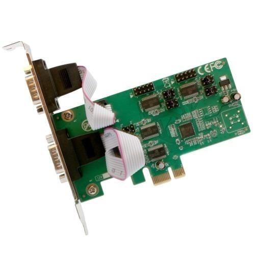 Tarjeta Serial Pci-e X1 De 4 Puertos Rs-232 Rs-422 Rs-48