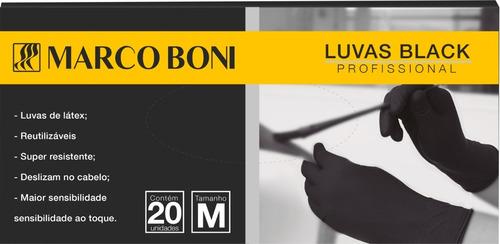 Caixa De Luvas Black Marco Boni Reutilizável C/ 20 Unidades