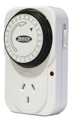 Timer Programable Temporizador Zurich 220 V Enchufable