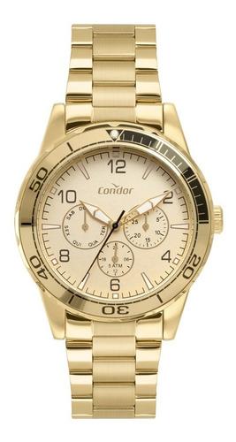 Relógio Condor Masculino Dourado Multifunção Co6p29iv/4x
