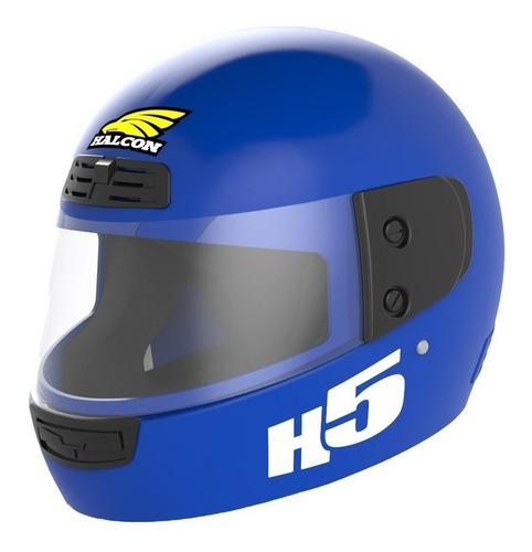 Casco Para Moto Integral Halcon H5 Azul Talle L