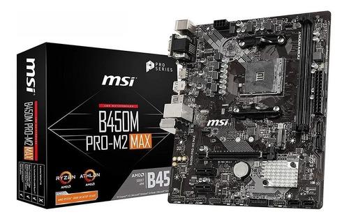Motherboard Amd Msi B450m Pro M2 Max Am4 Ddr4 B450 Bgui