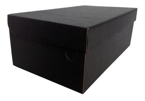 Caixa Para Sapatos Preto Fosco 33x19x12 - Pacote 25 Unidades