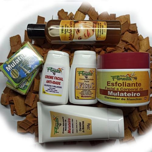 Kit 7 Produtos De Mulateiro Beleza Da Floresta Amazonas