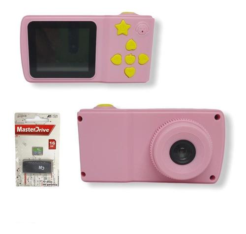 Câmera Fotográfica Infantil Foto Video Bt Sd+ C Memória 16gb