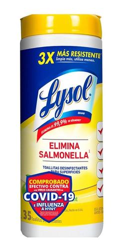 Lysol Toallitas Desinfectantes Multiusos Citrus 35 Wipes