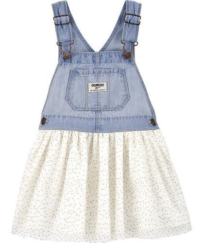 Jardineira Carters / Oshkosh Jeans Original Bebê Menina