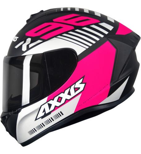 Capacete Feminino Mt Axxis Draken Z96 Preto Fosco Pink 2020
