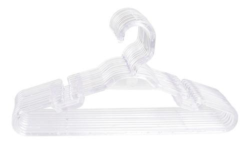 Cabide Infantil Cristal Acrílico Transparente - 30 Peças