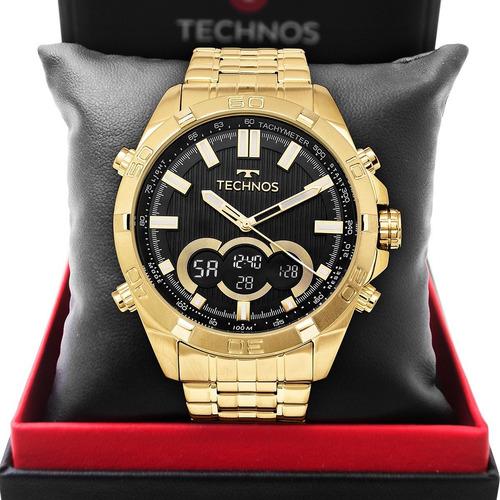 Relógio Technos Masculino Dourado Digiana Original Nf-e
